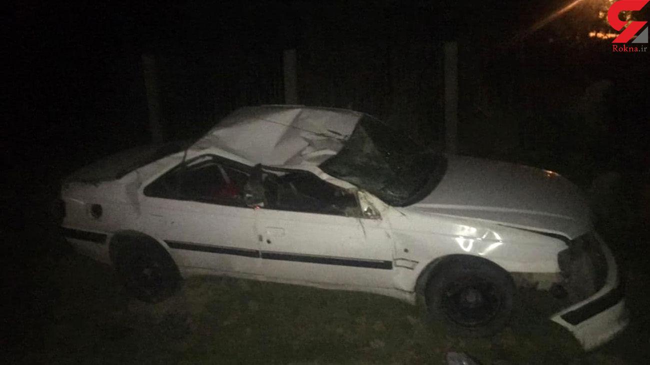 واژگونی پرشیا در جاده ملارد / 2 تن زخمی شدند