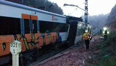 خروج قطار از روی ریل حادثه آفرید+عکس