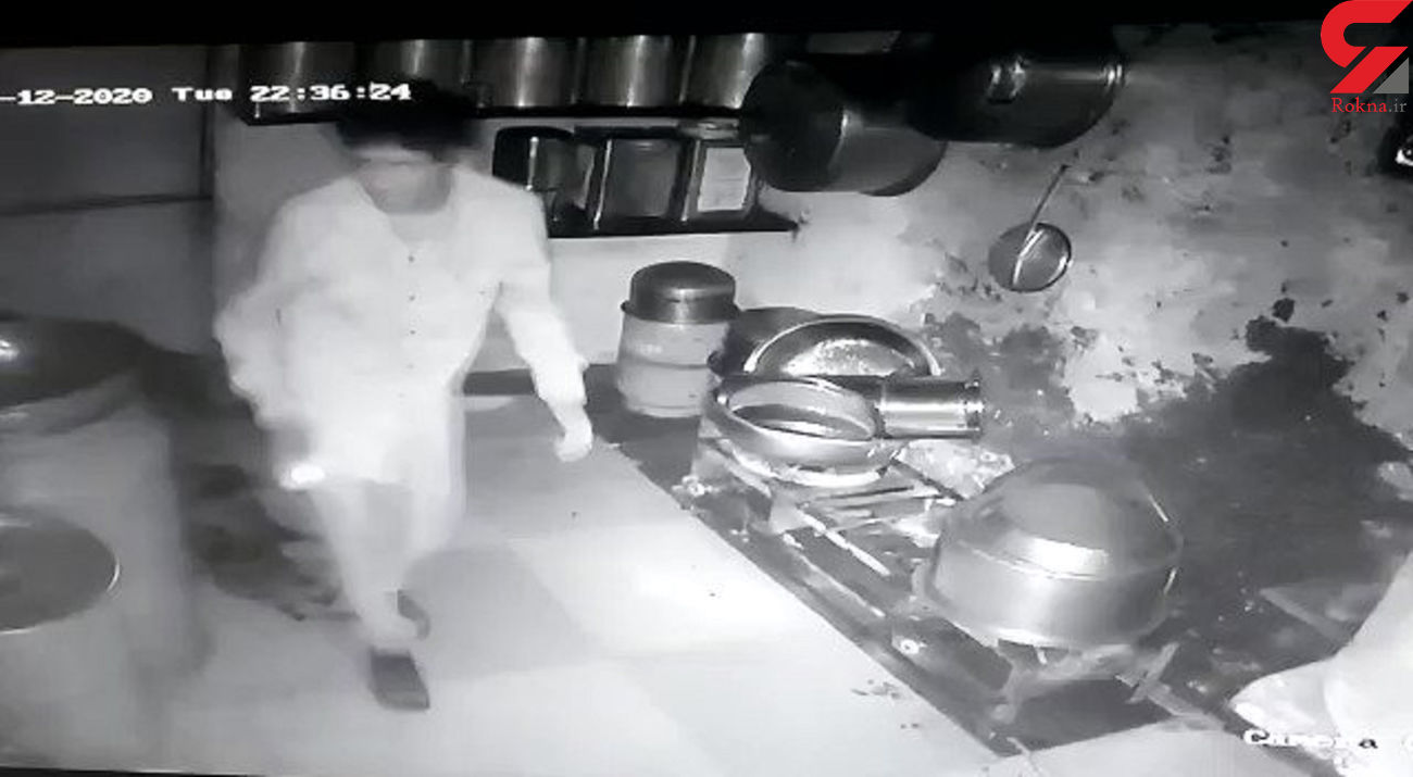 5 سارق یک رستوران به اندازه شکمشان دزدی کردند !+ فیلم /هند