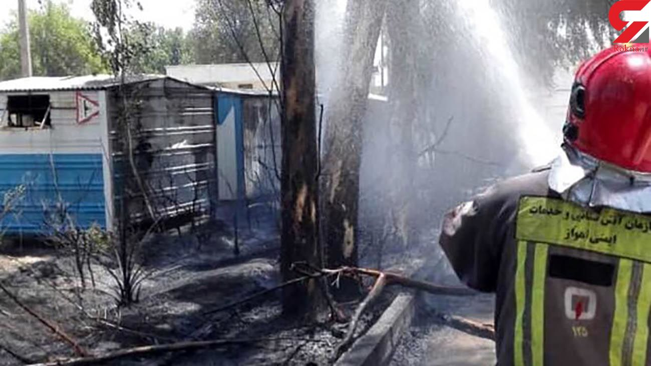 آتش انبار دارو در اهواز را سوزاند