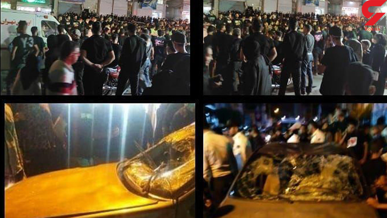 فیلم و عکس از لحظه زیر گرفتن عزاداران توسط راننده مست / جزئیات از زبان دادستان شهر قدس