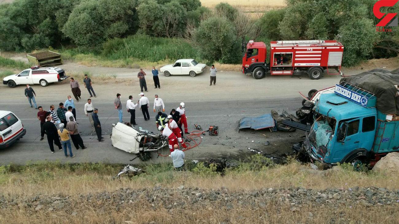 تصادف مرگبار در دیواندره با 2 کشته