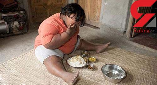 دختر 9 ساله هندی روزانه 14 کیلو برنج می خورد+عکس