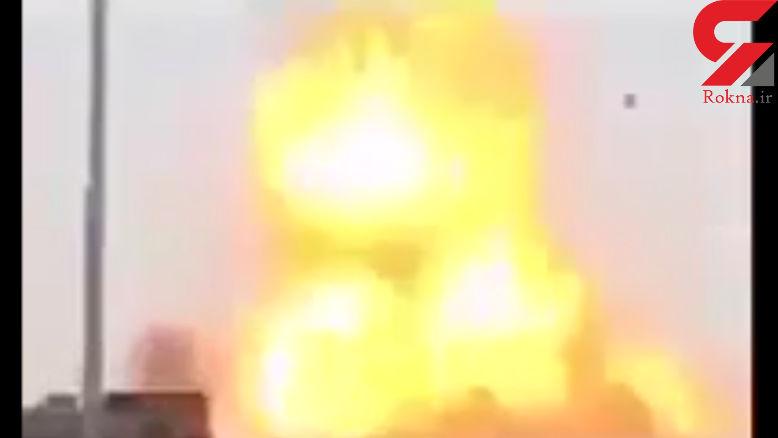 لحظه دستگیری راننده خودروی انتحاری و انفجار آن + فیلم