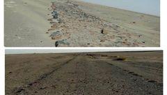 کشف جاده سنگی تاریخی در مسیر فهرج - نصرت آباد