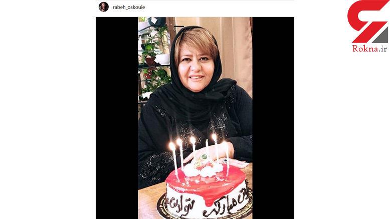 بازیگر زن تازه از جم برگشته با کیک تولدش +عکس
