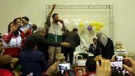 ازدواج عروس و داماد آققلایی در کمپ سیل زده ها+ فیلم و عکس