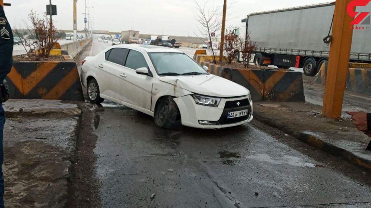 عوارضی متروکه بلای جان رانندگان در جاده کرج _ قزوین + تصاویر