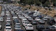 ترافیک در محور شهریار-تهران سنگین است/ بارش برف و باران در استانهای آذربایجان غربی، زنجان و لرستان