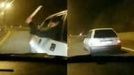 راهزنی شبانه اشرار قمه به دست در اتوبان تهران _ شمال +فیلم