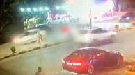 تصادف وحشتناک پژو با عابر پیاده در مهاباد + فیلم