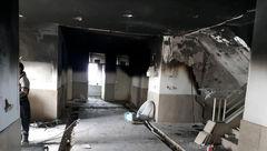 باز هم آتش سوزی هولناک مدرسه اینبار در نوبران+ تصاویر