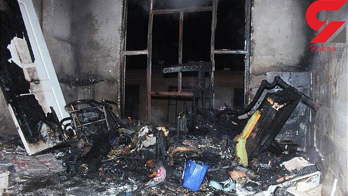 آتش اتاقک نگهبانی در مجتمع صنعتی + عکس