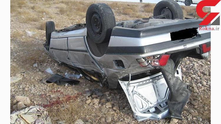 واژگونی ۲ دستگاه خودرو در آزاده راه زنجان - قزوین ۲ کشته برجا گذاشت