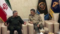 فرمانده کل سپاه پاسداران با فرمانده کل ارتش دیدار کرد