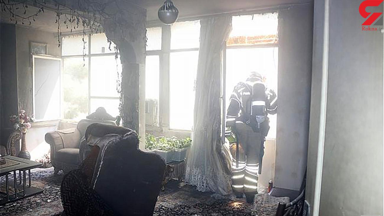 نجات 6 تهرانی در آتش سوزی منزل مسکونی + عکس