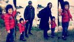 بازیگر معروف سریال پایتخت و خانواده اش در اولین ملاقات فرزندش با دریا +عکس