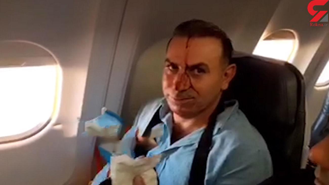 فیلم لحظه تهدید هواپیمایی ماهان توسط جنگنده اسرائیل / در آسمان سوریه رخ داد