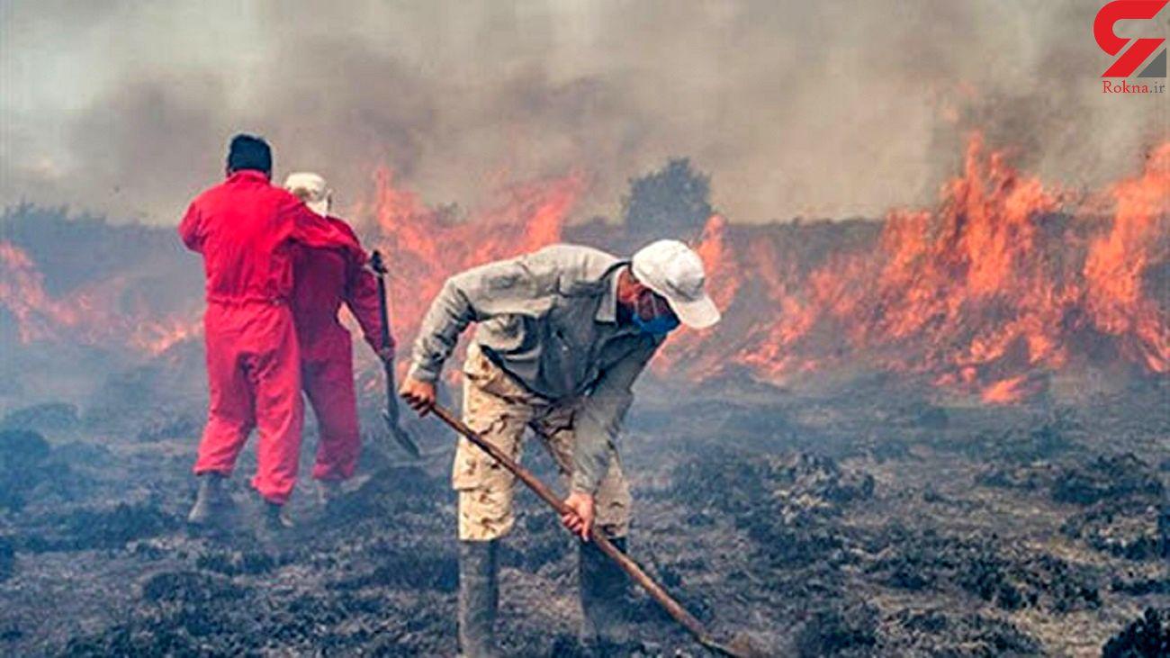 وقوع 13  آتش سوزی سریالی در منطقه میانکاله / کشت کنندگان ماریجوآنا میانکاله را به آتش می کشند