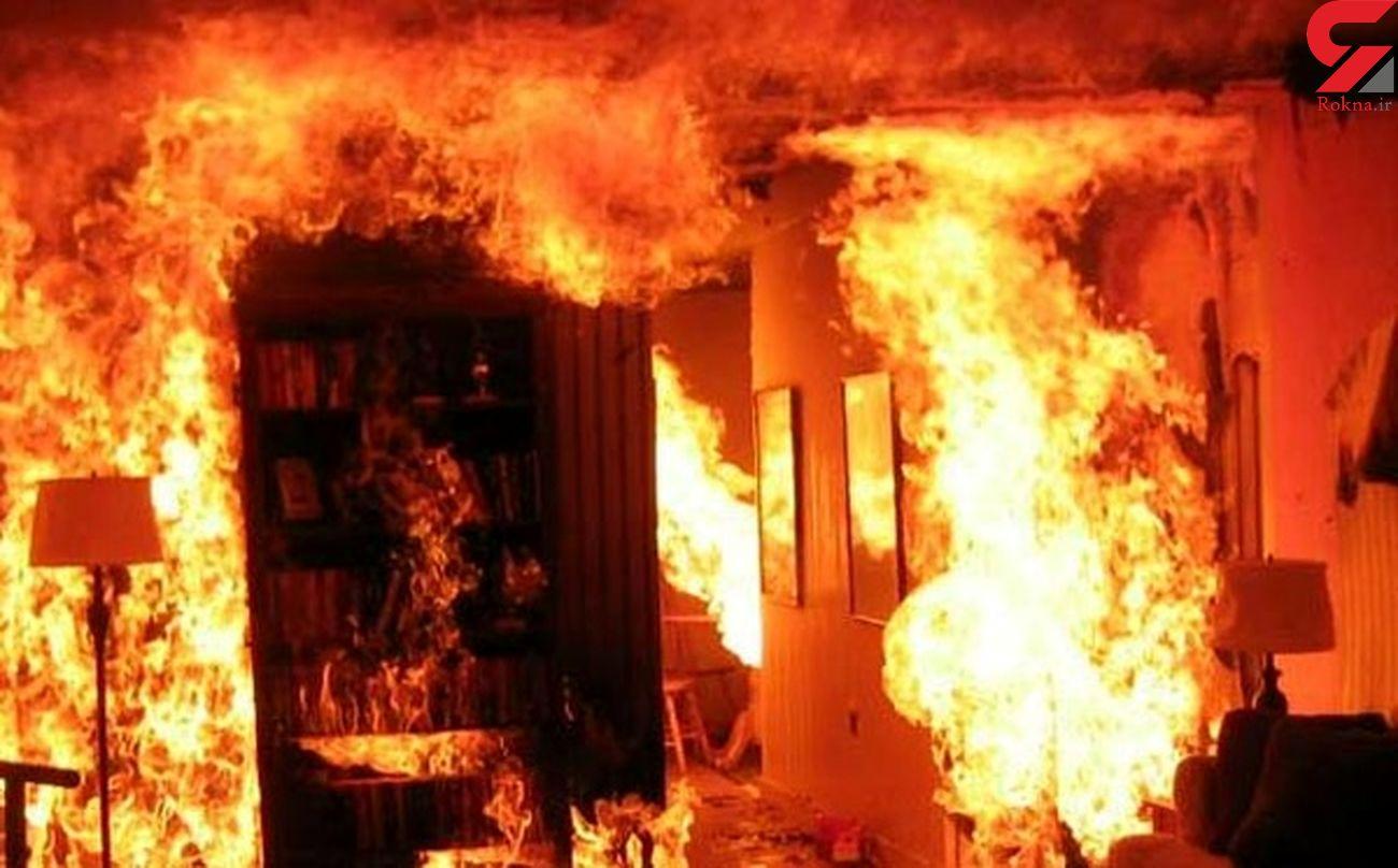 کشف جسد بی جان صاحب خانه پس از آتش سوزی منزل