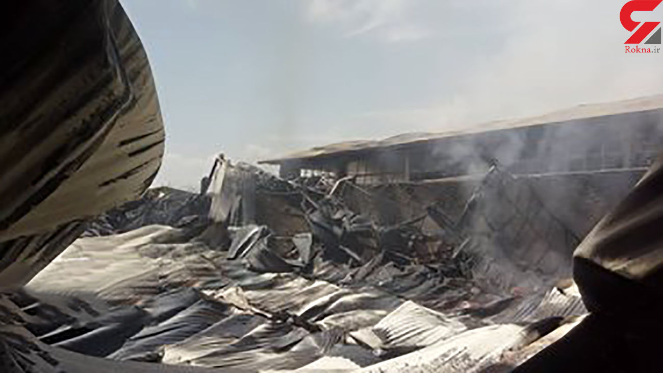 آتش سوزی در 2 واحد تولیدی در ایبک آباد