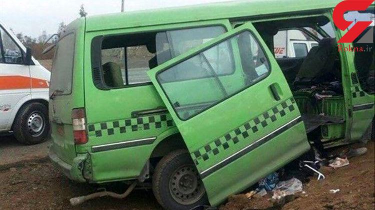 حادثه وحشتناک برای زائران ایرانی در جاده کربلا / 11 تن مسافر ون بودند