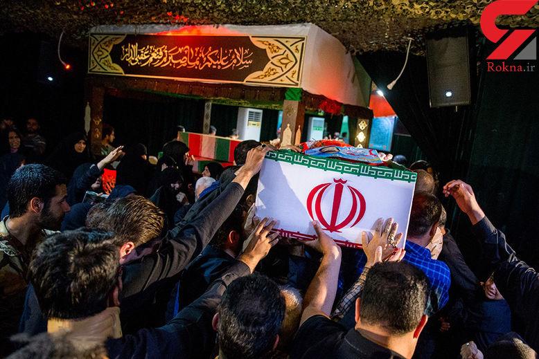 تصاویر غمگین از وداع تلخ با شهدای حمله تروریستی تهران