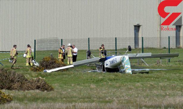 2 مجروح در پی سقوط هواپیما در ولز +تصاویر دیدنی
