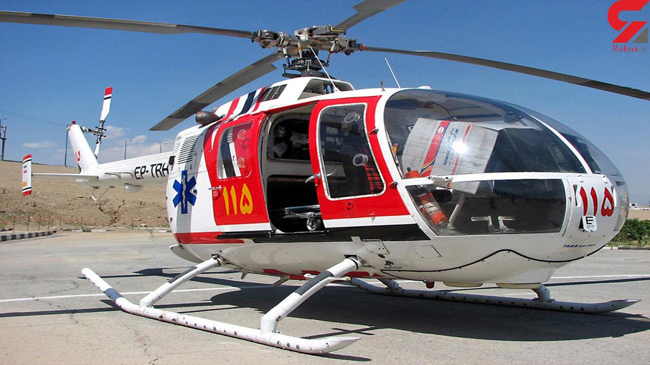 سوختگی 2 مرد شمالی در اثر انفجار گاز / هلیکوپتر اورژانس مازندران به پرواز در آمد