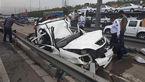 مرگ دلخراش راننده تیبا بر اثر سرعت مرگبار / در البرز رخ داد