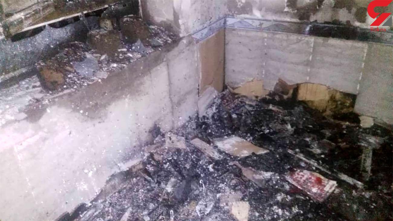 زنده زنده سوختن نوجوان فسایی در انفجار خانه