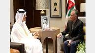 دیدار پادشاه اردن با وزیر خارجه قطر
