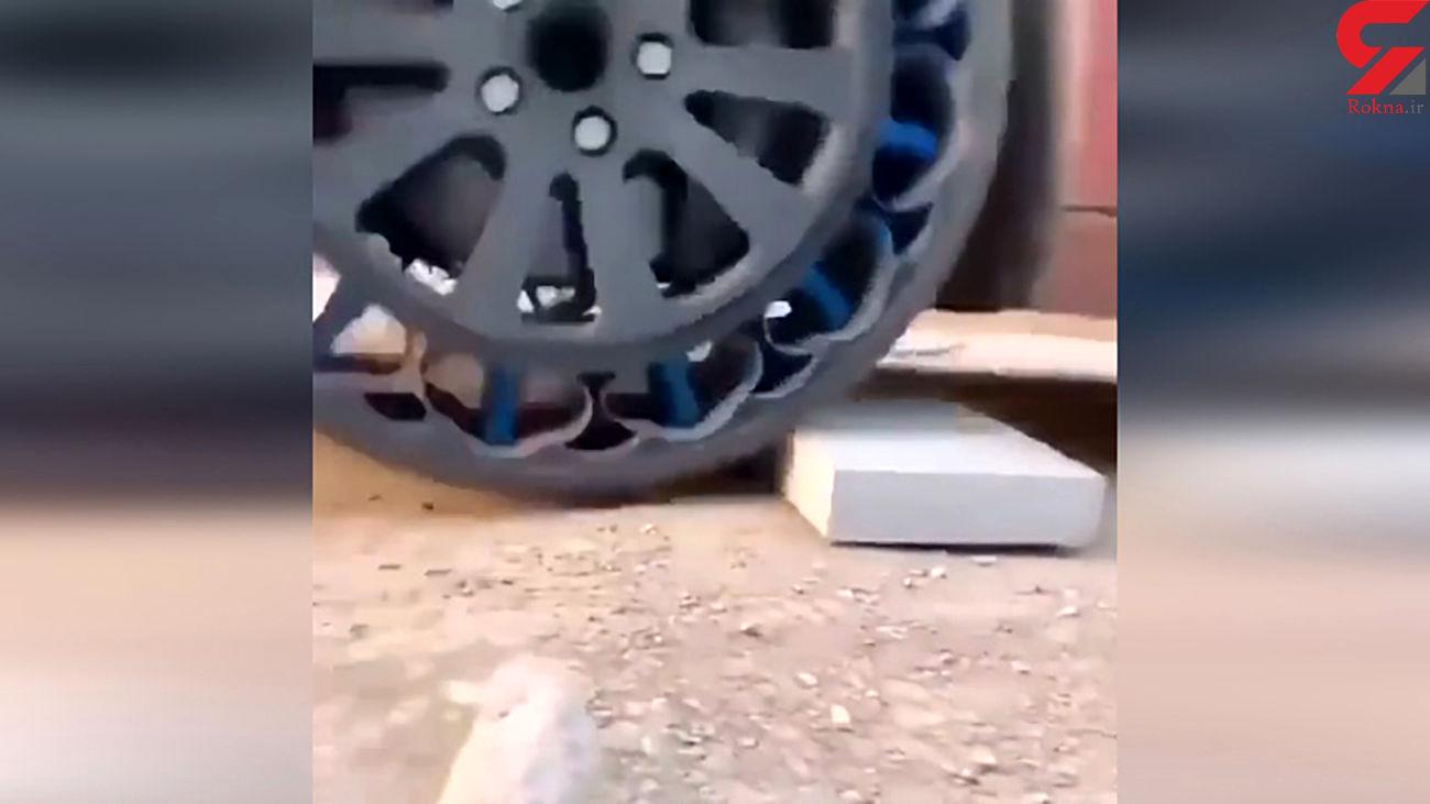 این تایرهای خودرو پنچر نمیشوند + فیلم