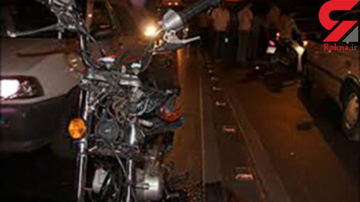 موتورسواری مرگبار در اتوبان تاریک