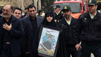 مراسم  تشییع پیکرهای شهدای پلیس در حادثه پاسداران + فیلم تلخ