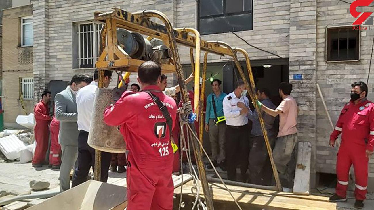 جسد مرد مدفون در فردیس پیدا نشد / اجازه تخریب ساختمان نمی دهند + عکس ها