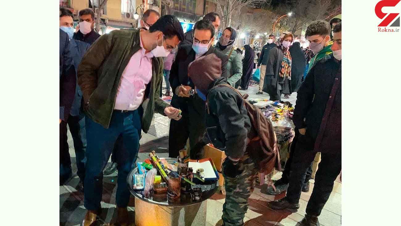 ترقه بازی آقای وزیر در همدان / نه به چهارشنبه سوری! + عکس