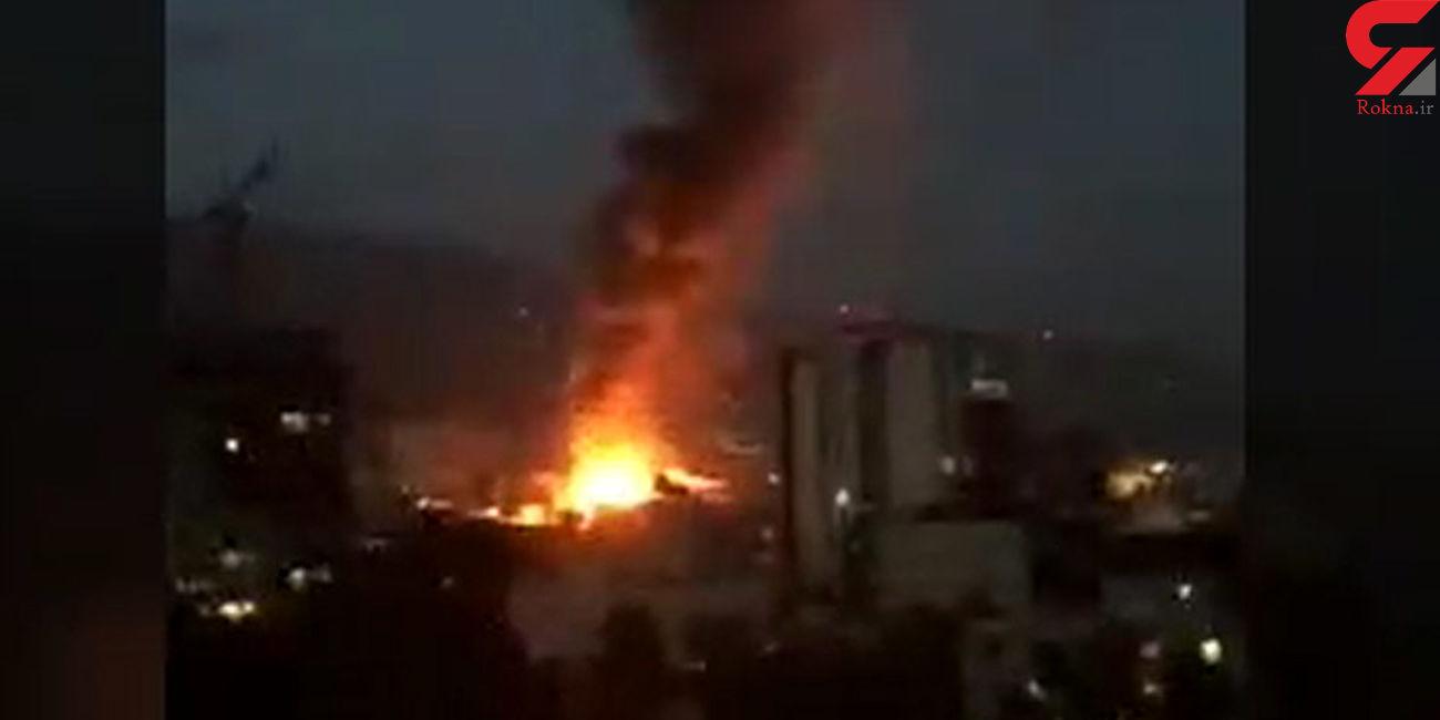 انفجار در شمال تهران / آتشسوزی در کلینیک درمانی ، مردم محبوس میان شعله های آتش + فیلم