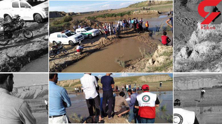 عکس های پیدا شدن جسد جوان ۲۲ ساله در رودخانه چای قوشان