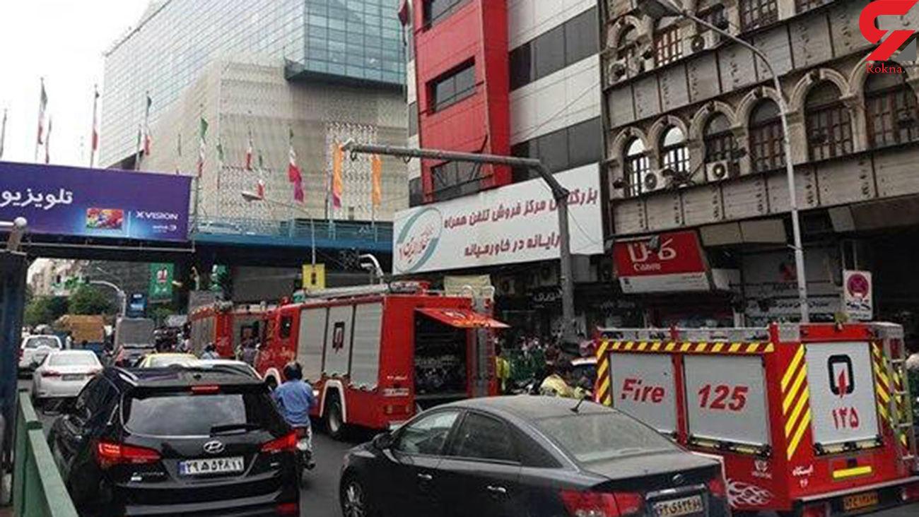 آتش پاساژ علاالدین تهران خاموش شد + عکس و جزئیات
