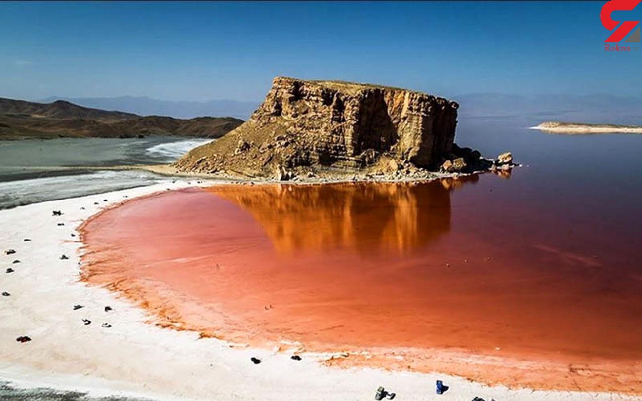 کاهش وسعت دریاچه ارومیه نسبت به سال قبل