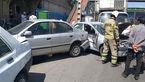 حادثه ای هولناک در بزرگراه فتح / تصادف زنجیره ای حادثه آفرید + عکس