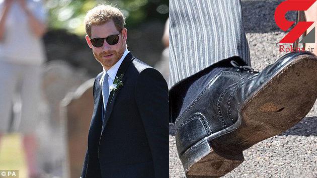 کفش سوراخ شاهزاده انگلستان جنجال آفرید + عکس