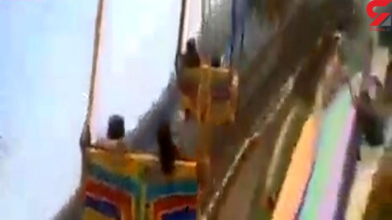 سقوط وحشتناک در شهربازی+ فیلم