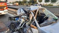 مرگ تلخ کودک7 ساله تهرانی در پراید مچاله شده + عکس