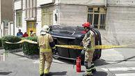 حادثه برای خودروی لاکچری در خیابان های تهران+ عکس
