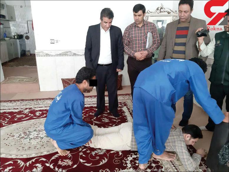 لحظه به لحظه قتل یک مرد که به دختری در فامیل همسرش نظر داشت ! + عکس بازسازی در مشهد