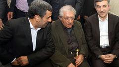 تصویری کمیاب از مرحوم عزت الله انتظامی میان احمدی نژاد و مشایی