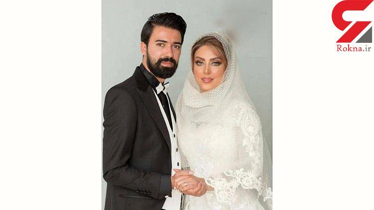 عکس عروسی خانم بازیگر چشم آبی سریال گاندو