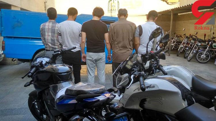 دستگیری پنج سارق سریالی توسط کلانتری نامجو